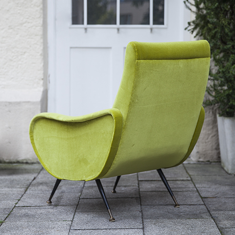 Zanuso_lime_armchair_vintage