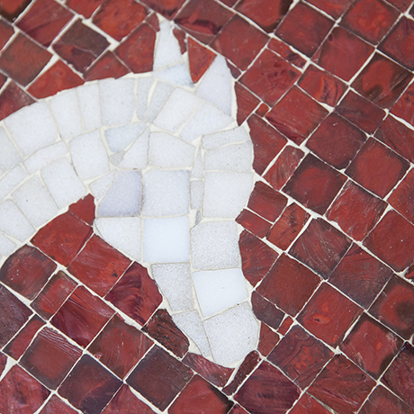 mosaic_table_horse_red