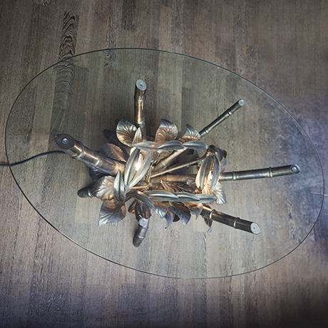 golden_bamboo_coffee_table_flowers