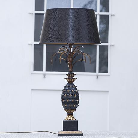 Ananas_Tischlampe_schwarz_gold_design