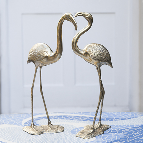 flamingo_brass_sculpture_golden