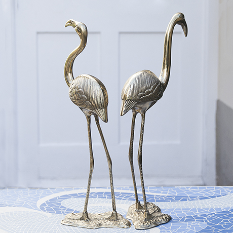 flamingo_brass_sculptures_art