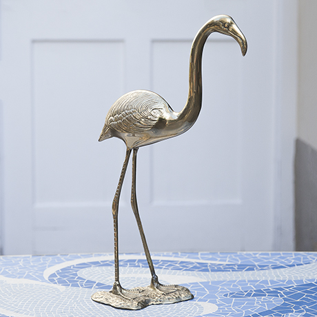 flamingo_brass_sculpture_figure