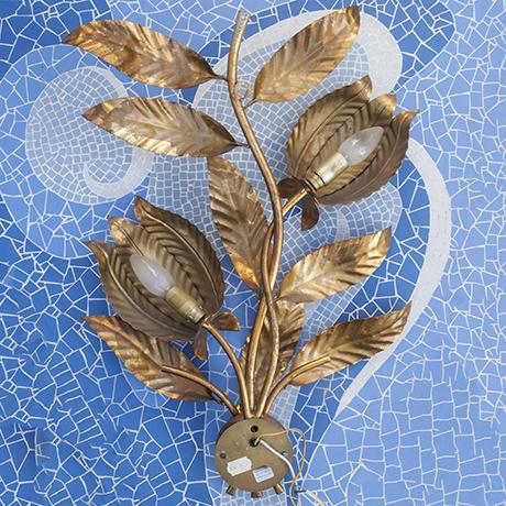 Wandlampe_Lampe_Gold_Blätter