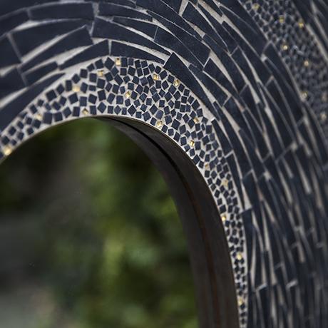black_mosaic wall_mirror_design