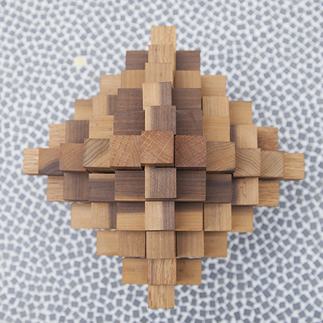 puzzle_object_wooden_rhombus_vintage