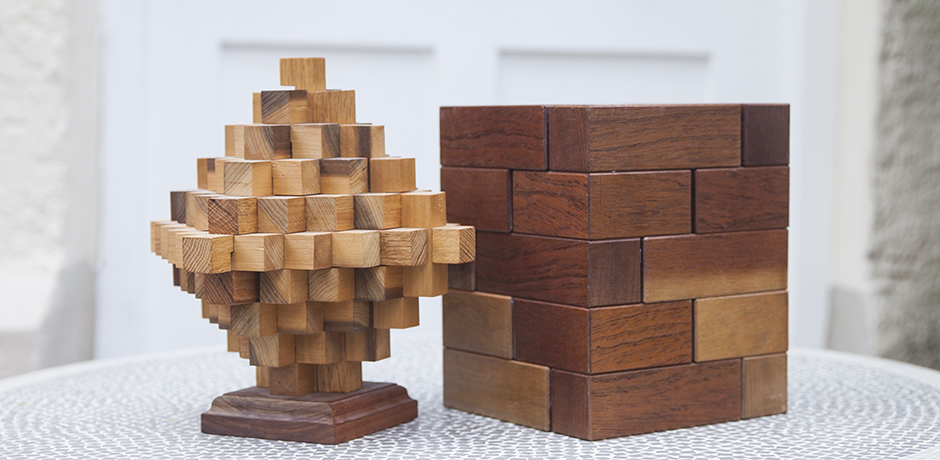 puzzle_sculptures_wooden_rhombus_art