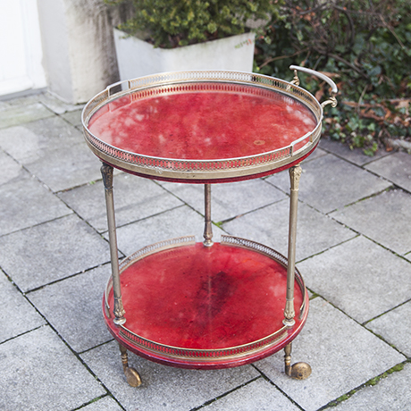 Aldo_Tura_cart_red_round