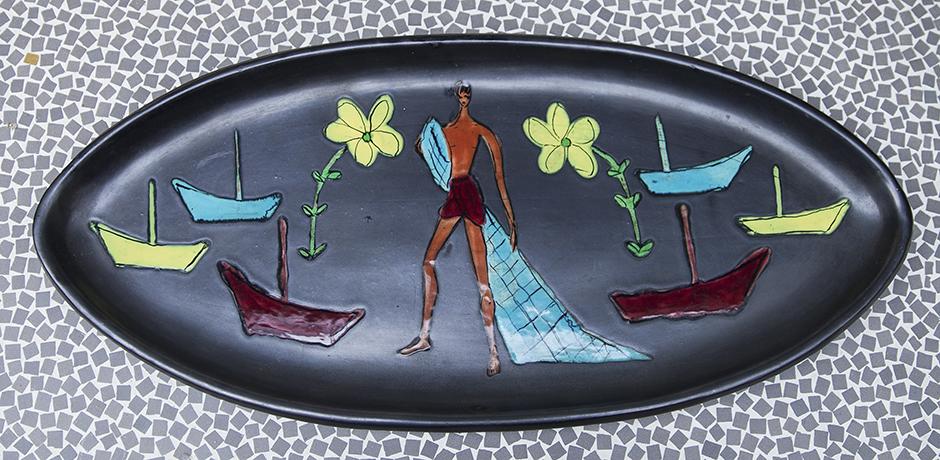 Vallauris_ceramic_plate_colorfull