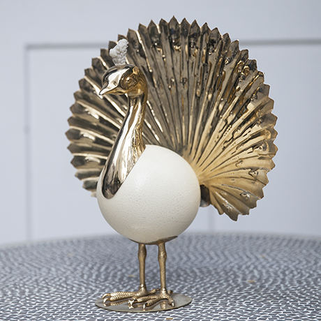 golden_pheasant_phoenix_sculpture_figure