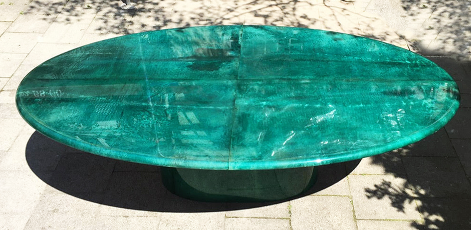 Aldo_Tura_dining_table_green_2