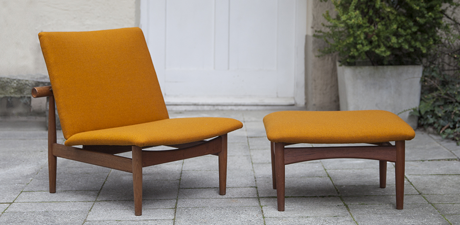 Finn_Juhl_lounge_chair_ottoman_orange_1