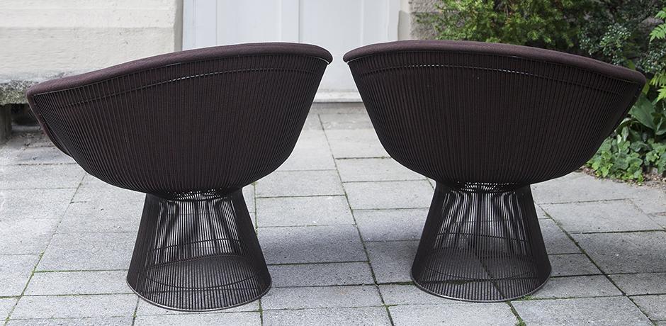Knoll_International_Platner_armchairs_brown