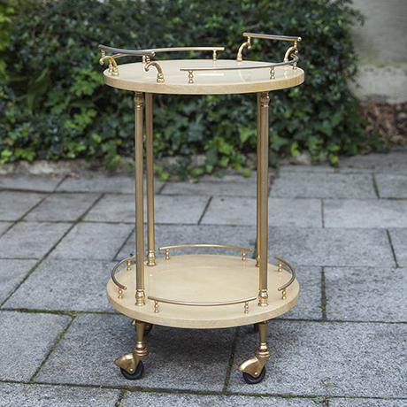 Aldo_Tura_serving_cart_round_italy