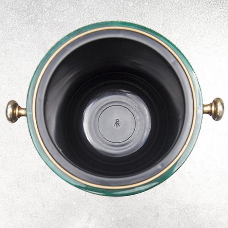 Aldo_Tura_ice_bucket_green_vintage
