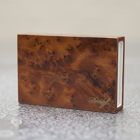 Davidoff_burl_wood_matchbox_cigars