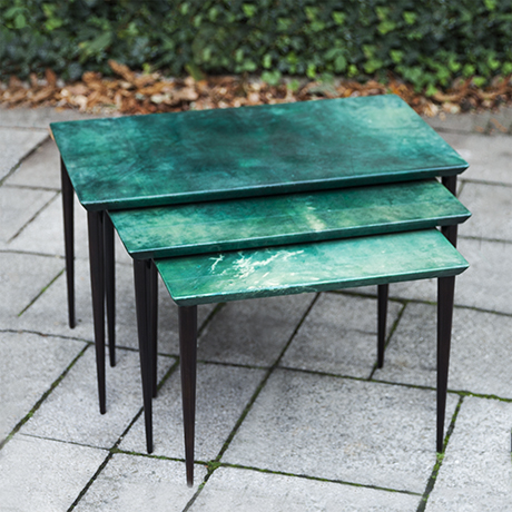 Tura_nesting_tables_green_goatskin