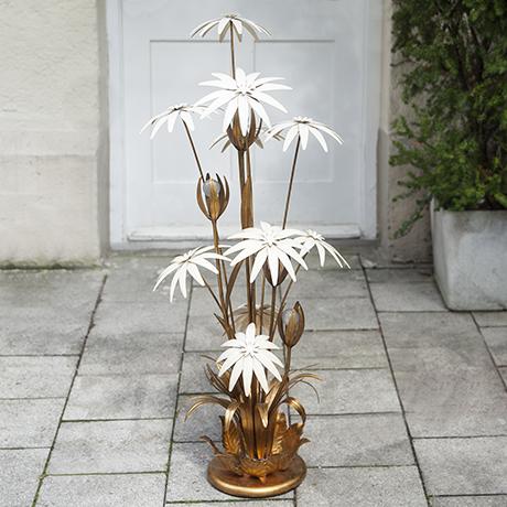 Hollywood_Regency_Blumen_Stehlampe_Lampe