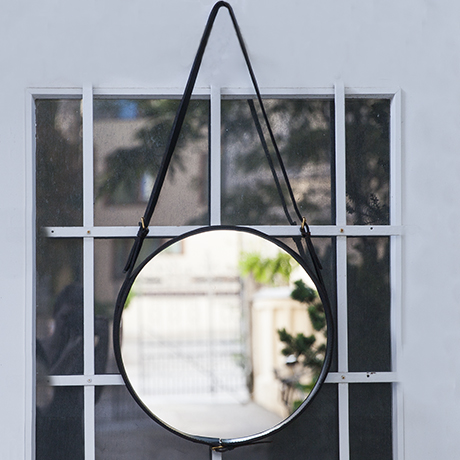 Jaques_Adnet_wall_mirror_leather