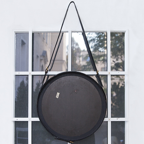 Adnet_wall_mirror_leather_black