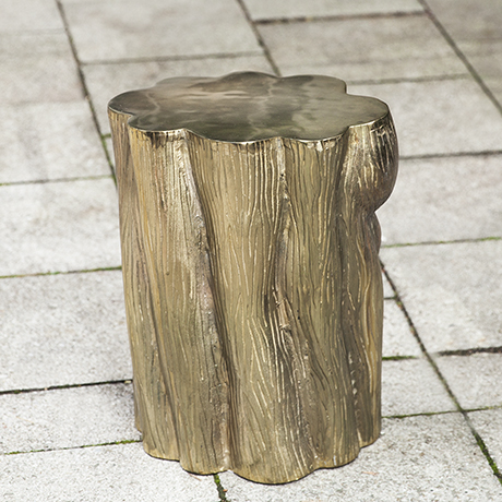 side_table_tree_stump_golden