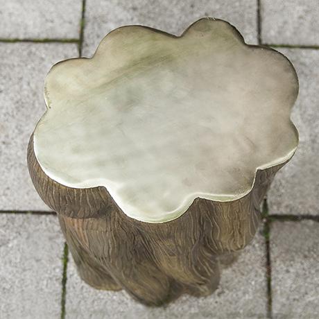 Baumstumpf_Beistelltisch_Tisch_messing_vintage