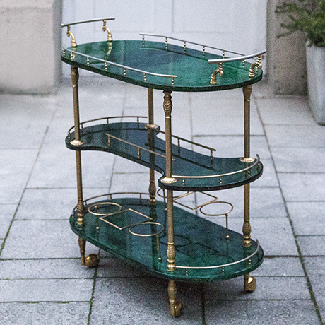 Schlichtes DesignAldo_Tura_bar_cart_green_1