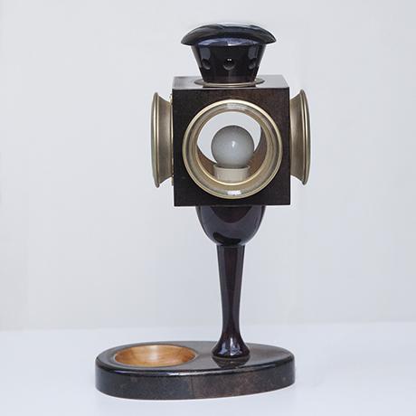 Aldo_Tura_lantern_table_lamp_brown_1