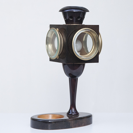 Aldo_Tura_lantern_table_lamp_brown_2