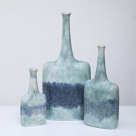 Schlichtes DesignBruno_Gambone_ceramic_vase_green_1
