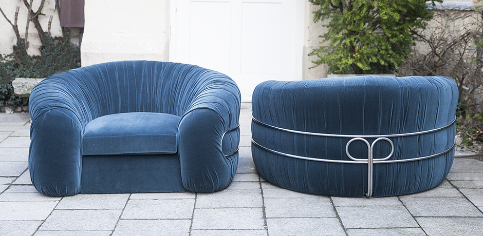 Schlichtes DesignSaporiti lounge chair_blue_1