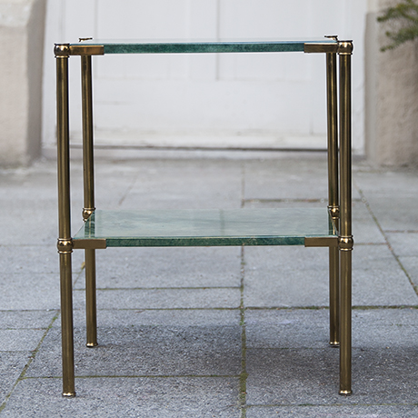 Aldo_Tura_side_table_green_goatskin