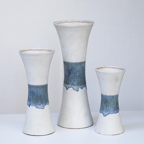 Bruno_Gambone_vase_stoneware_white_blue