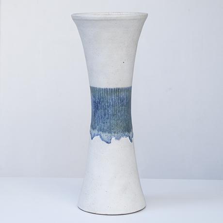 Bruno_Gambone_vase_stoneware_white_blue_4