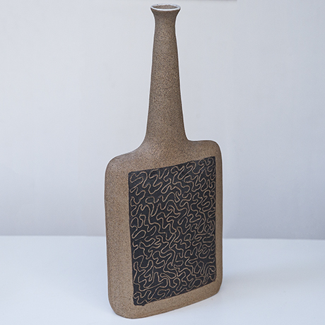 Bruno_Gambone_vases_raw_stoneware_relief
