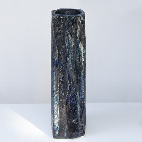 Schaeffenacker_blue_grey_black_vase_brutalist