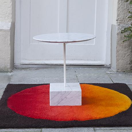 Schlichtes DesignEttore-Sottsass-Primavera-beistelltisch-tisch-marmor