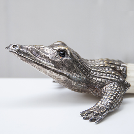 franco-lapini-silver-crocodile-centerpiece-figure-krokodil-silber