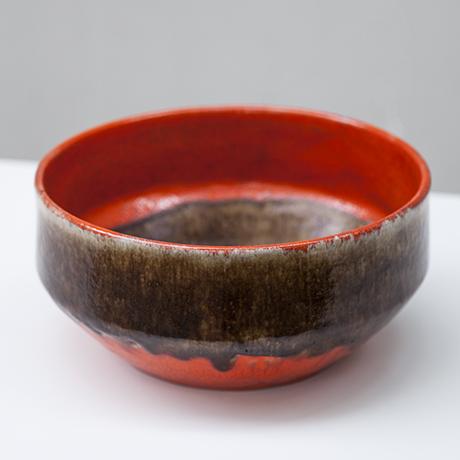 Gambone-ceramic-bowl-red-brown