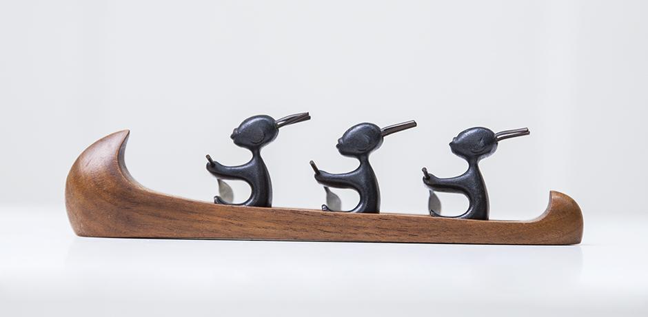 Hagenauer-afrikanisch-ruderboot-kinder-figur