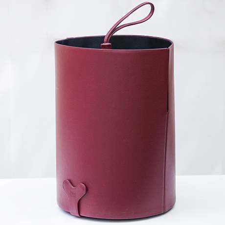 Poltrona-Frau-umbrella-stand-purple-leather_1