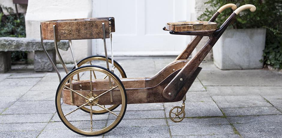 Aldo-Tura-barwagen-braun-vintage