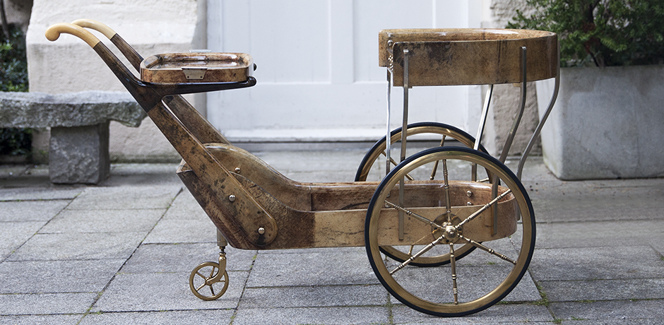 Aldo-Tura-bar-cart-brown-italy