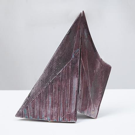 Asshoff-stoneware-object-pyramid-glazed