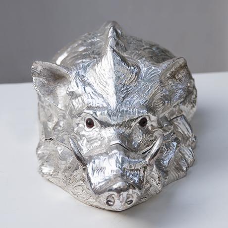 Franco-Lapini-wild-boar-centerpiece-silver