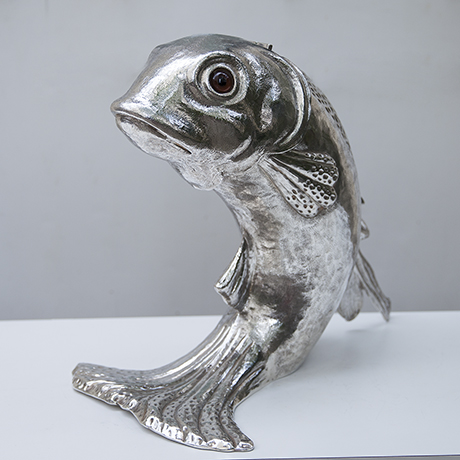 Franco-Lapini-dolphin-ice-bucket-silver