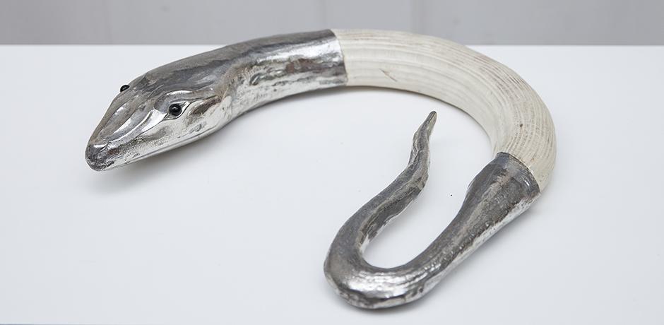 Franco-Lapini-schlange-figur-silber