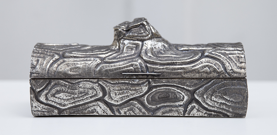 Franco-Lapini-centerpiece-baum-schale-silber