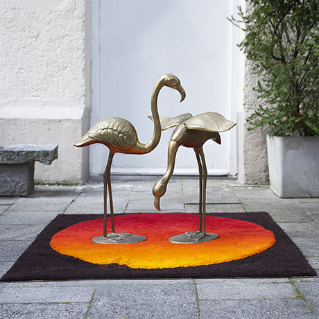 flamingo-sculpture-brass