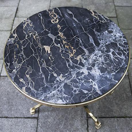 Hollywood-Regency-coffee-side-table-black-marble